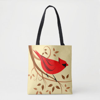 Stylish Red Cardinal Gifts Tote Bag