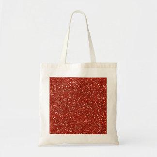 Stylish  Red Glitter Budget Tote Bag