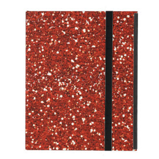 Stylish  Red Glitter iPad Case