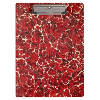 Stylish Red Marble Effect Office Clipboard