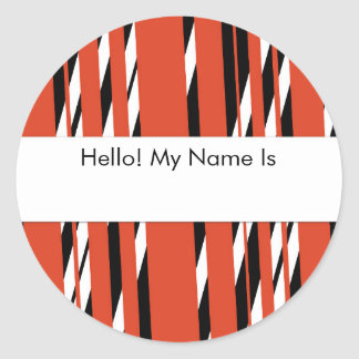 Stylish Red Stripped Sticker Sheet