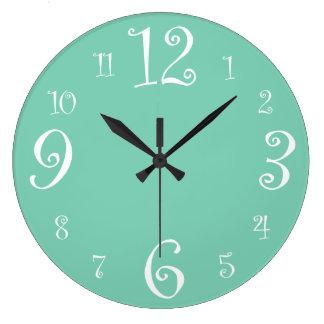 Stylish Retro 1950s Kitchen Large Clock