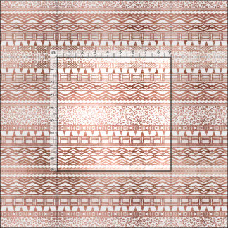Stylish rose gold geometric aztec leopard pattern fabric