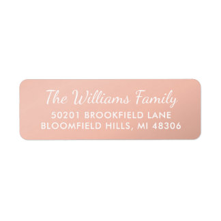 Stylish Rose Gold Return Address Labels