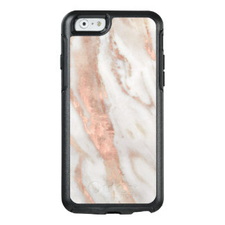 Stylish Rose Gold Trendy White Marble OtterBox iPhone 6/6s Case