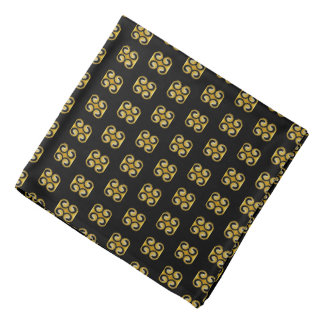 Stylish Royal Yellow Black Pattern Bandana