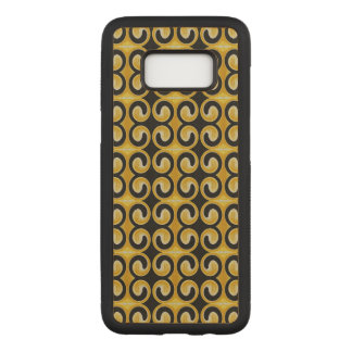 Stylish Royal Yellow Black Pattern Carved Samsung Galaxy S8 Case