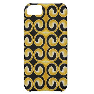 Stylish Royal Yellow Black Pattern iPhone 5C Case