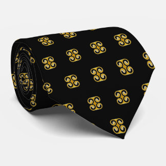 Stylish Royal Yellow Black Pattern Tie