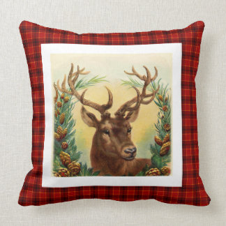 Stylish Rustic deer traditional Christmas Pattern Cushion