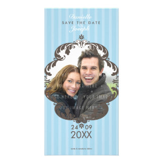 STYLISH SAVE THE DATE CARD :: flourish deluxe 1 Photo Card Template