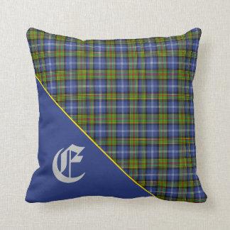 Stylish Scottish Estes Clan Tartan Monogram Cushion