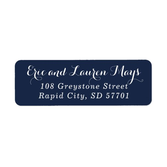 Stylish Script Return Address Stamp Labels