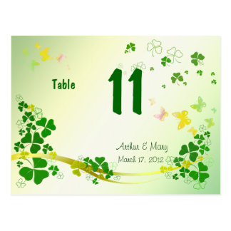 Wedding butterfly table numbers postcards for Table 52 number