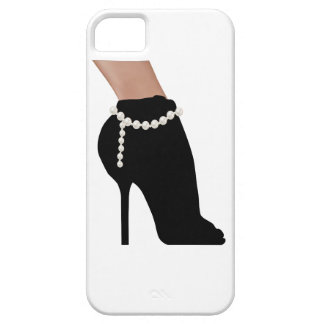 stylish silhouette beautiful woman shoes high heel barely there iPhone 5 case