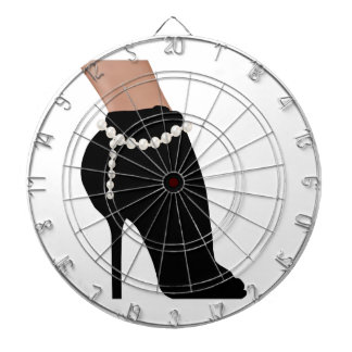 stylish silhouette beautiful woman shoes high heel dartboard