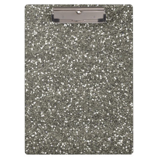 Stylish Silver Glitter Clipboard