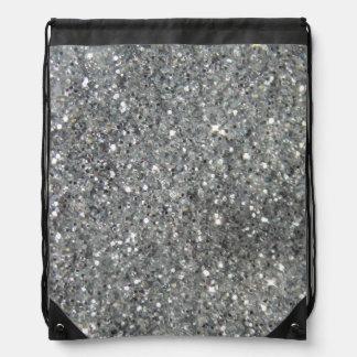 Stylish Silver Glitter Glitz Backpack