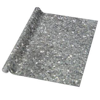 Stylish Silver Glitter Glitz Photo