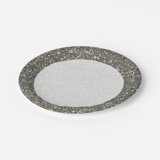 Stylish Silver Glitter Paper Plate