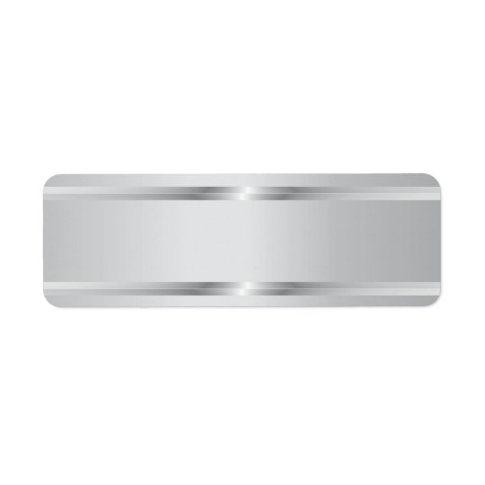 Stylish Silver Stripes Blank Return Address Labels
