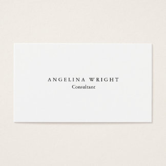 Stylish Simple White Minimalist Consultant Manager