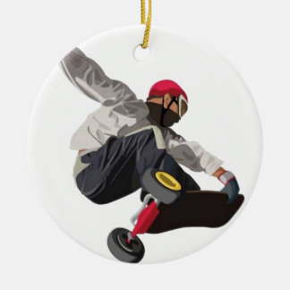 Stylish skater ceramic ornament