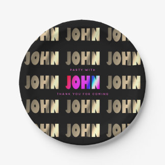 Stylish, Smart John Paper Plate
