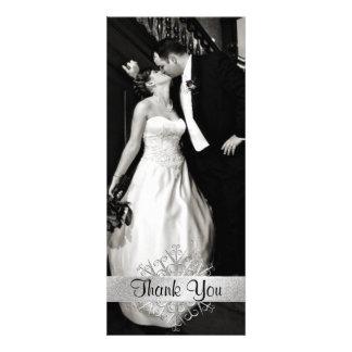Stylish Snowflake Photo Wedding Thank You Card