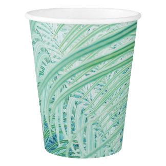 Stylish Soft Green Plant Palm Leaf Paper Cup