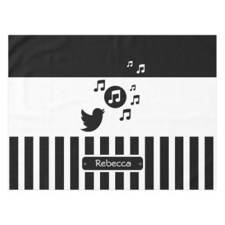 Stylish Songbird musical notes Tablecloth