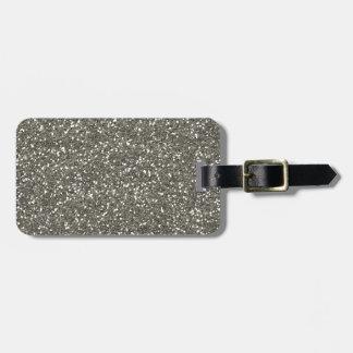 Stylish Sparkly Silver Glitter Luggage Tag