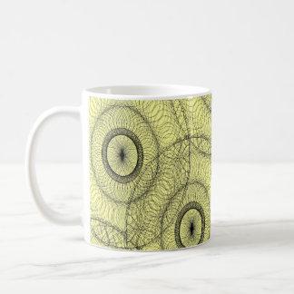 Stylish Spirograph Swirly Zen Doodle Pattern Mugs