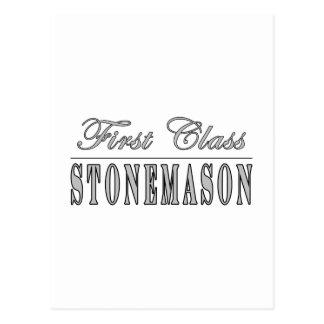 Stylish Stonemasons : First Class Stonemason Postcard