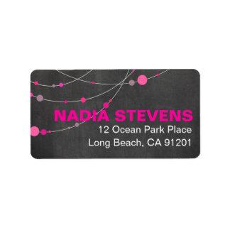 Stylish Strands   chalkboard fuschia Label
