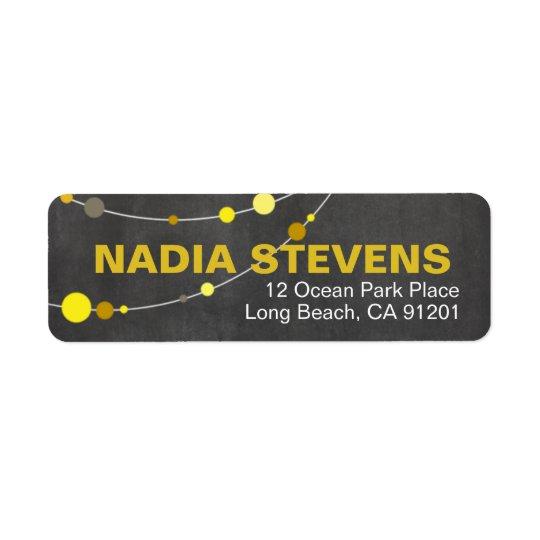 Stylish Strands | chalkboard yellow Return Address Label