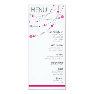 Stylish Strands Menu | white fuschia 10 Cm X 24 Cm Invitation Card