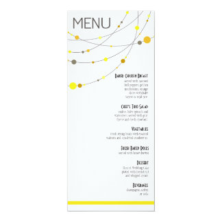 Stylish Strands Wedding Menu | yellow 10 Cm X 24 Cm Invitation Card