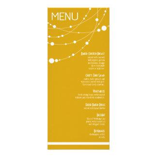 Stylish Strands Wedding Menu   yellow Custom Invitations