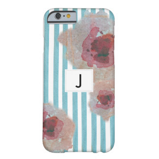 Stylish Striped Boho Chic Monogramed Floral Barely There iPhone 6 Case