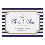 Stylish Striped Nautical Thank You Note Card