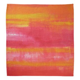 Stylish Summer Pink Red Yellow Bandana