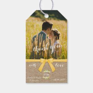 Stylish Summer Wedding Thank You Gift Tags