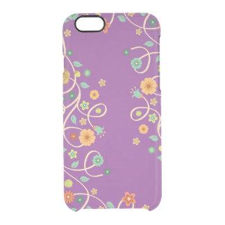 Stylish Swirl Floral Flowers - Lavender Purple