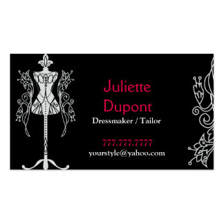Stylish Tailor Dressmaker black Pack Of Standard Business Cards