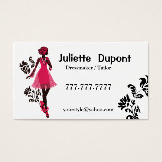 Stylish Tailor Dressmaker white Business Card