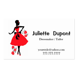 Stylish Tailor Dressmaker white Pack Of Standard Business Cards