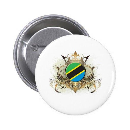 Stylish Tanzania Pinback Button