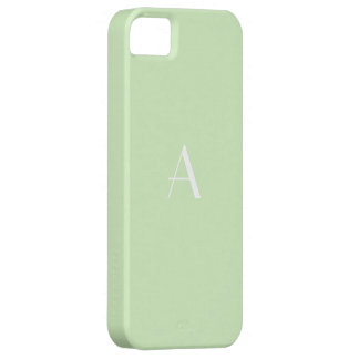 Stylish Tea Green White Monogram iPhone 5 Covers