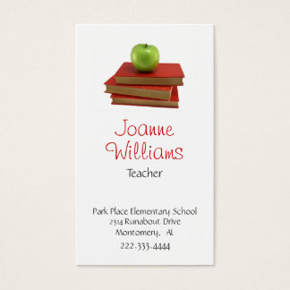 Stylish Teacher Business Card